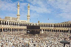Kaaba in the Grand Mosque Click to view high resolution version
