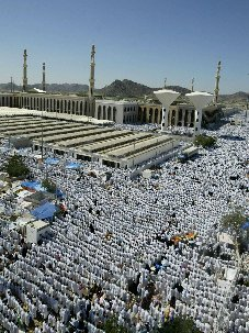 Namirah Mosque in Arafat during noon prayer Click to view high resolution version