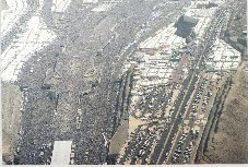 The Jamarat Bridge during peak hours Click to view high resolution version