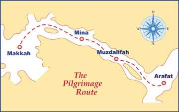 The Pilgrimage Route, Click to visit the places on the map
