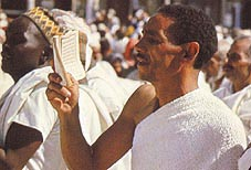 Pilgrim in state of Ihram Click to view high resolution version